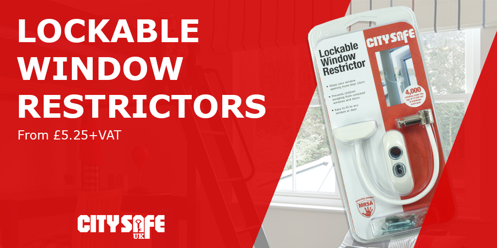 Protect your Customers with the CitySafe Lockable Window Restrictors