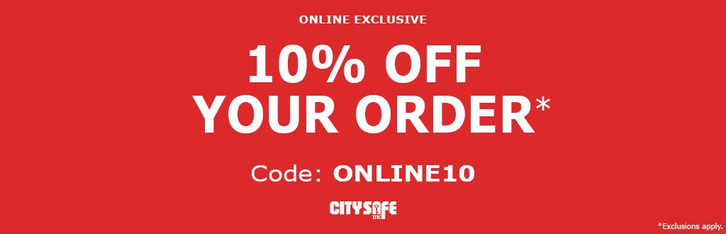 Get 10% off online at CitySafe