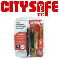Kitemarked 6 Lever Mortice Sash Lock - Retail Packaged