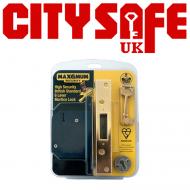 10 Units - 6 Lever Mortice Sash Lock in Brass