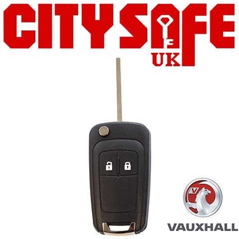 Vauxhall Flip Key Repair Case - 2 Buttons (Includes HU100 Blade)