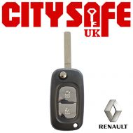 Renault Flip Key Repair Case - 2 Buttons (Includes VA2 Blade)