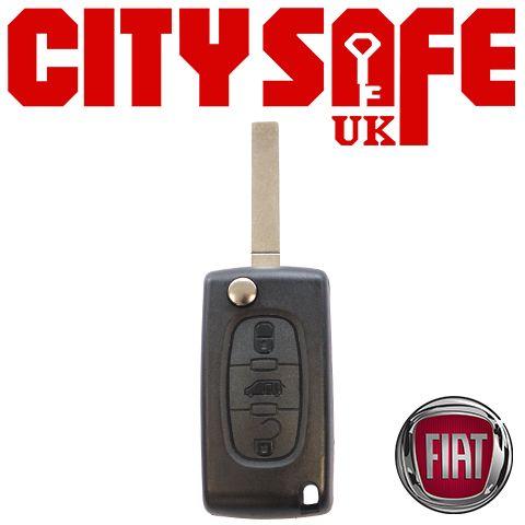 Fiat Flip Key Repair Case - 3 Buttons (Includes SIP22 Blade)