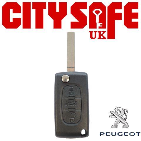Peugeot Flip Key Repair Case - 3 Buttons (Includes VA2 Blade)
