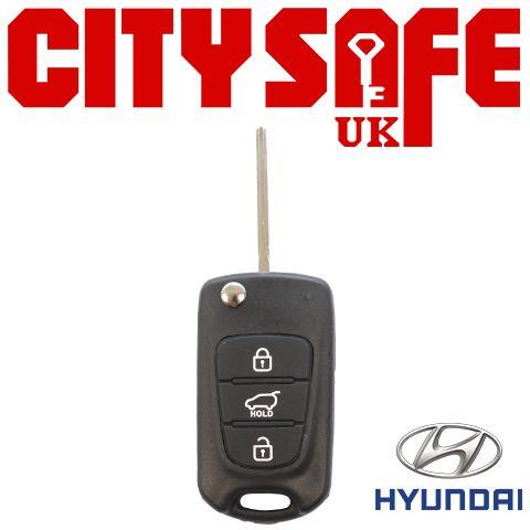 Hyundai Flip Key Repair Case - 3 Buttons (Includes KIA7 Blade)