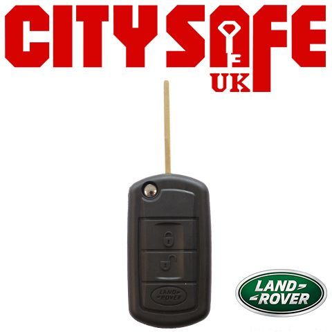 Land Rover Flip Key Repair Case - 3 Buttons (Includes HU101 Blade)