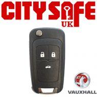Vauxhall Flip Key Repair Case - 3 Buttons (Includes HU100 Blade)