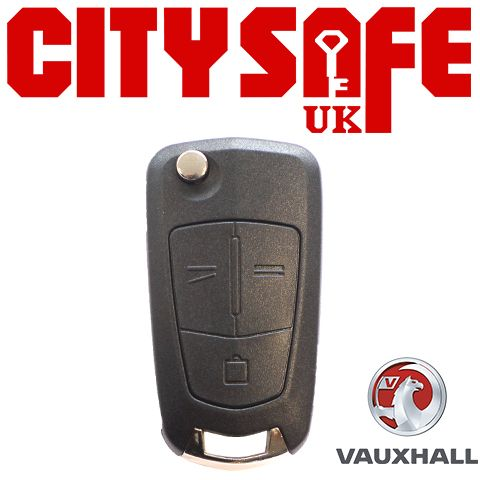 Vauxhall Flip Key Repair Case - 3 Buttons (Includes HU100 Blade)