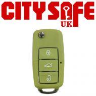 KeyDIY B01 Advanced Car Key Remote In Green (3 Button)