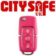 KeyDIY B01 Advanced Car Key Remote In Pink (3 Button)