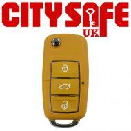 KeyDIY B01 Advanced Car Key Remote In Yellow (3 Button)