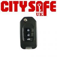 KeyDIY Aftermarket NB10 Universal Car Key Remote - 3 Button (with Integrated Transponder Chip)