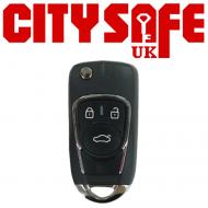 KeyDIY Aftermarket NB22 Universal Car Key Remote - 3 Button (with Integrated Transponder Chip)