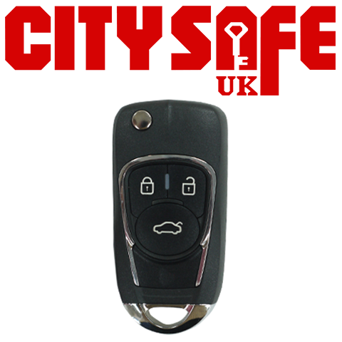 KeyDIY Aftermarket NB22 Universal Car Key Remote - 3 Button (with Integrated Transponder Chip)
