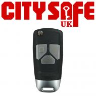 KeyDIY Aftermarket NB26 Universal Car Key Remote - 3 Button (with Integrated Transponder Chip)