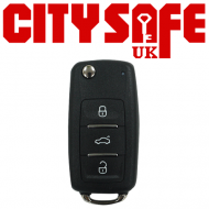 KeyDIY Aftermarket NB08 Universal Car Key Remote - 3 Button (with Integrated Transponder Chip)