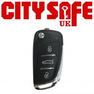 KeyDIY Aftermarket NB11 Universal Car Key Remote - 3 Button (with Integrated Transponder Chip)