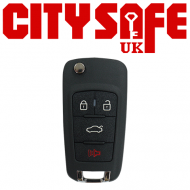 KeyDIY Aftermarket NB18 Universal Car Key Remote - 3 Button with Panic Button (with Integrated Transponder Chip)