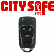 KeyDIY Aftermarket NB22 Universal Car Key Remote - 3 Button with Panic Button (with Integrated Transponder Chip)