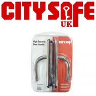 High Security Stainless Steel Front Door Handles - Retail Packaged