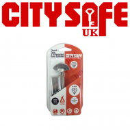 Chrome 3* Kitemarked Thumb Turn Euro Cylinders - Retail Packaged