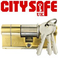 Brass 3* Kitemarked Euro Cylinders