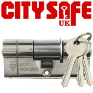 Chrome 3* Kitemarked Euro Cylinders