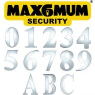 Mirror Polished 3 Inch Max6mum Security Self Adhesive Door Numbers and Letters