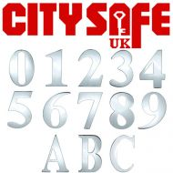Mirror Polished 3 Inch Self Adhesive Door Numbers and Letters
