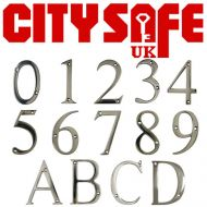 Mirror Polished 3 Inch Thin Door Numbers and Letters