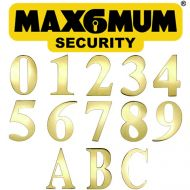 PVD Gold 3 Inch Max6mum Security Self Adhesive Door Numbers and Letters