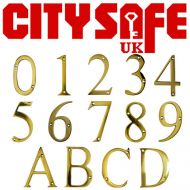 PVD Gold 3 Inch Thin Door Numbers and Letters