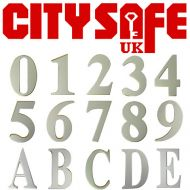 Silver Anodised 3 Inch Self Adhesive Door Numbers and Letters