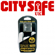 MAX6MUM SECURITY Window Safe Window Lock (Sash Jammer) Twin Pack - 10 Units