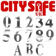 Satin Stainless 3 Inch Self Adhesive Door Numbers and Letters