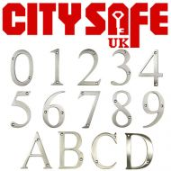 Satin Stainless 3 Inch Thin Door Numbers and Letters