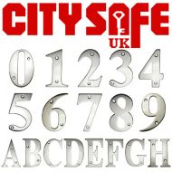 Polished Chrome 3 Inch Screw Fix Door Numbers and Letters
