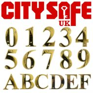 PVD Gold 3 Inch Bevelled Edge Door Numbers and Letters