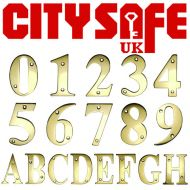 PVD Gold 3 Inch Screw Fix Door Numbers and Letters