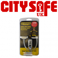 10 units - MAX6 Chrome Window Restrictor with a Clear Cable