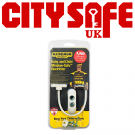 10 units - MAX6 White Window Restrictor with a White Cable