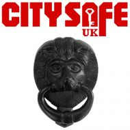 Black Iron 6 Inch Lions Head Door Knocker