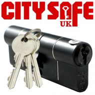 Black 1* Kitemarked Euro Cylinders - Retail Packaged