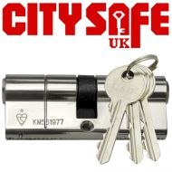 Chrome 1* Kitemarked Euro Cylinders